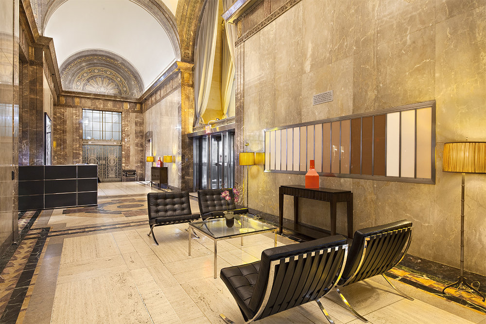 Landmarked Art Deco Lobby at 20 Exchange Place