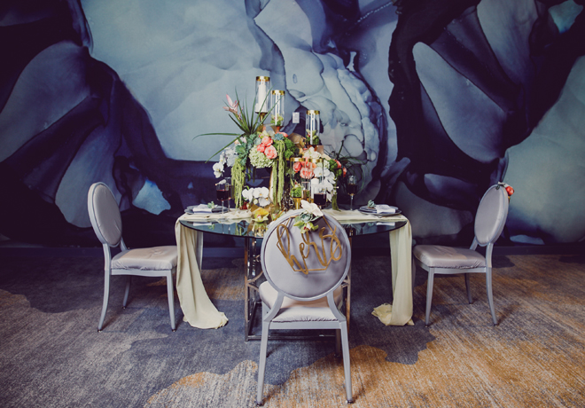marble gold wedding table