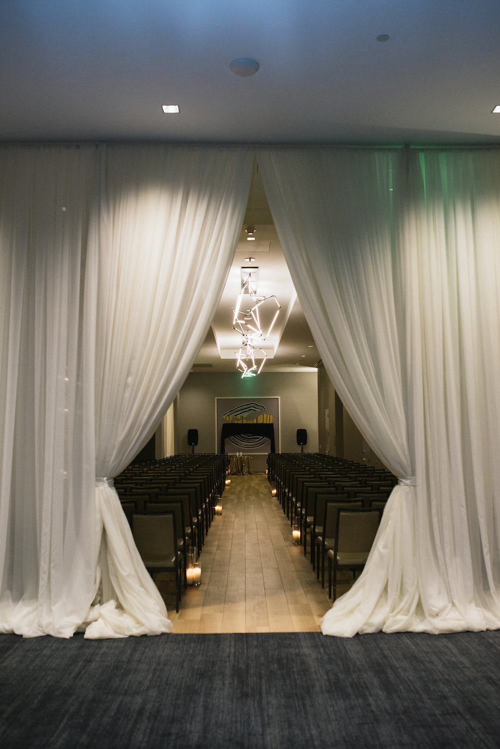 indoor wedding pipe and drape