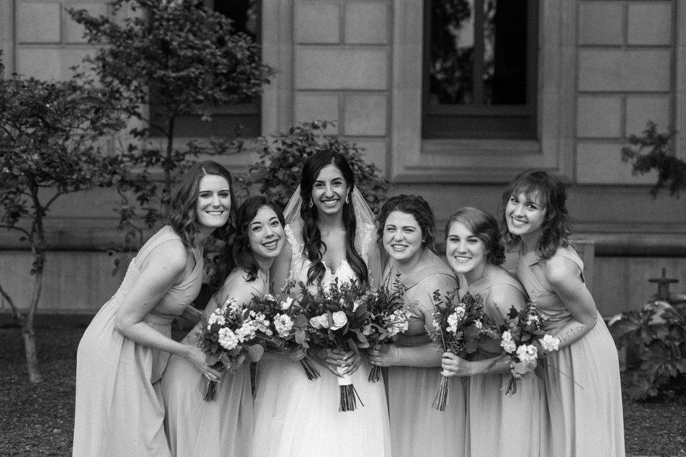 boho glam bridal squad