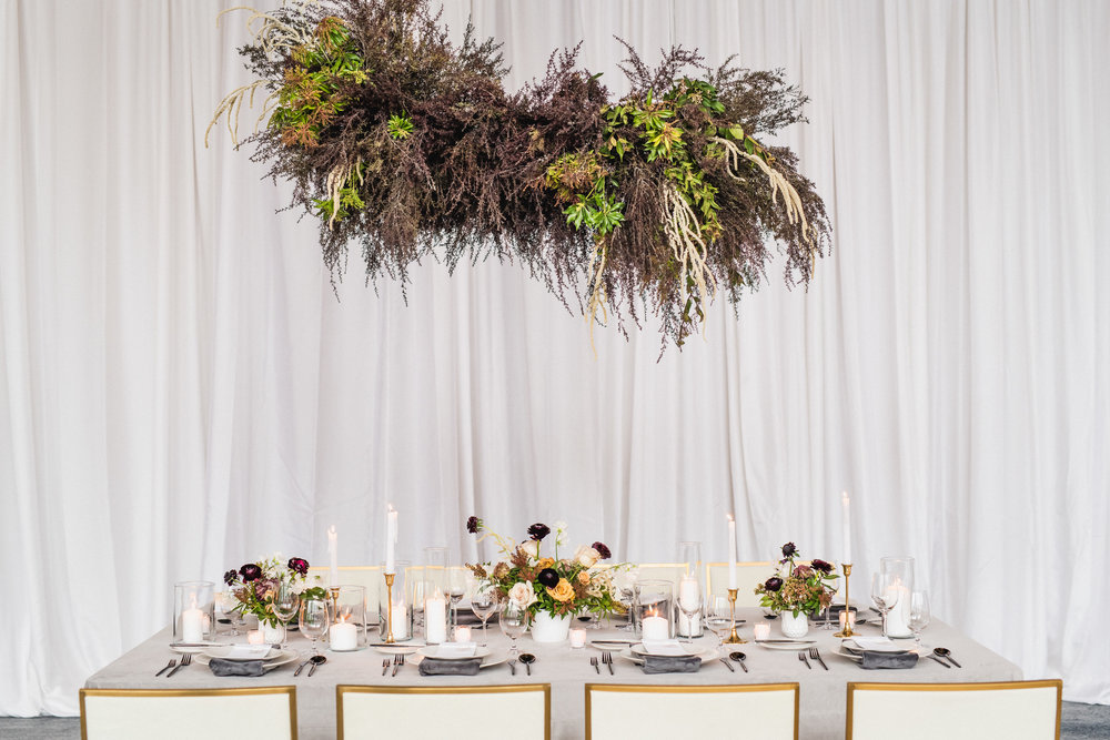 head table modern glam