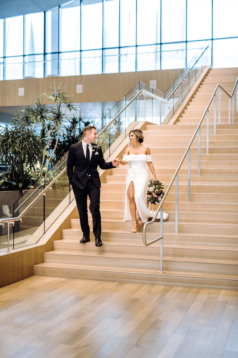 glam contemporary modern wedding kimpton sawyer hotel
