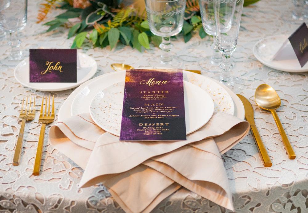 gorgeous elegant napkin fold