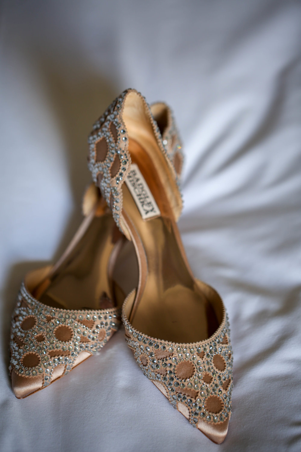 modern wedding shoes Badgley Mischka