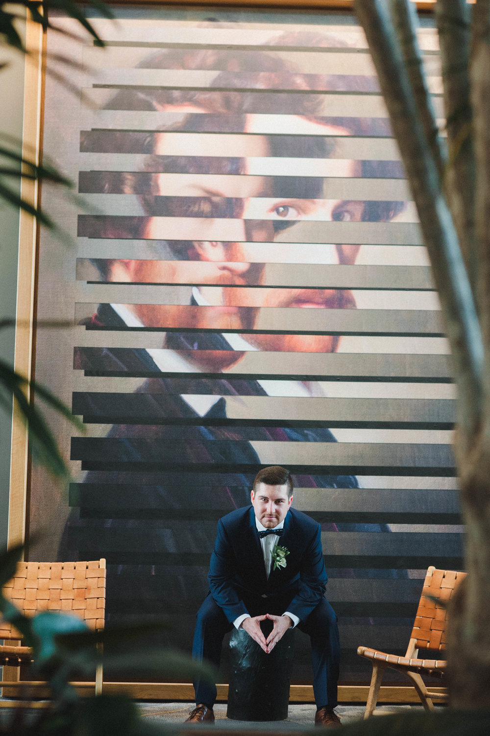 modern groom photo ideas Kimpton Sawyer wedding