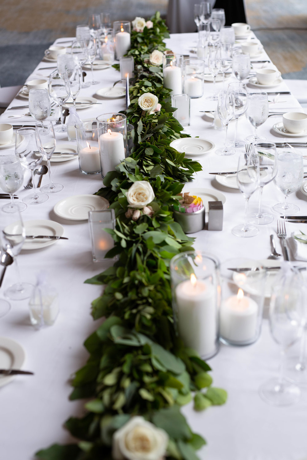 modern white and green wedding neutral wedding colors