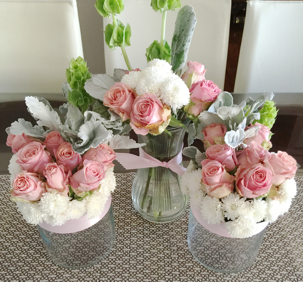 Mis novatos arreglos florales