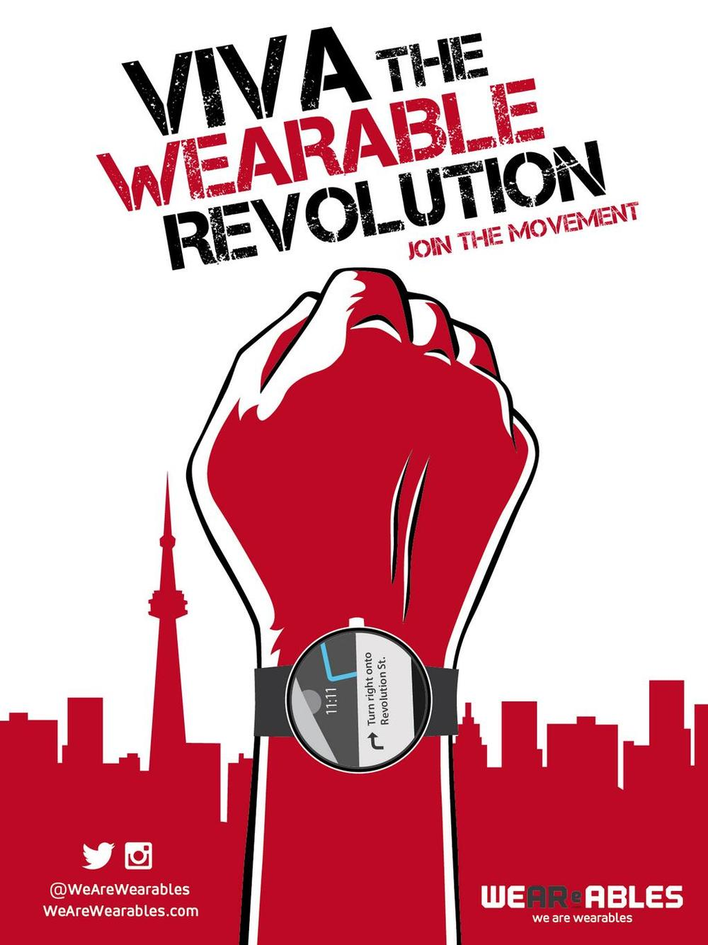 wearewearables: Welcome to the Wearables Revolution: We Are Wearables Hi Everyone! It's Tom the guy behind all 1,606 (now 1,607) posts on this blog I started way back in 2011. I can't believe its been over four years! I've loved watching this community grow, reading your notes and seeing what you are all interested in when it comes to this amazing new world of emerging technology. Thank you for being such an awesome group of future junkies! But just as tech continues to change over time, it is time for this blog to evolve too. And I've got some exciting news for us as we move forward. Keep reading Long live the wearable! Check out (and contribute to) she++ challenge's wearables project for this month. You could win a pebble watch!