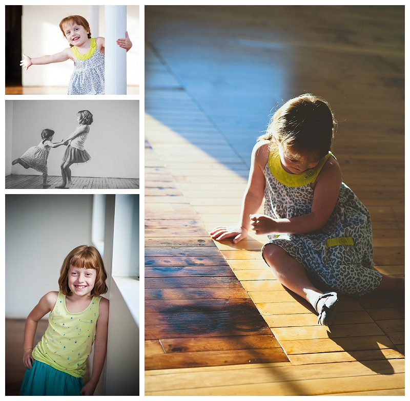 Got the girls up to the new studio to try out all the little nooks and crannies of amazing light. LOVE.