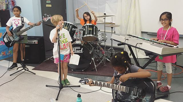 This has been a very special week. ❤️ I've been side lines watching while these sweet tiny humans learn new instruments, write songs and form their first band at @rockcampla. More than that, they've given and received so much positive energy and love over the week and have no idea how many people they've changed. Tomorrow my band (pictured) The Fantastic 5, and many others (including @haylo_j and @kaygeepee band, Little Big Rockers) are playing at The Troubadour for their first show ever. Please come show your support! It's so important ❤️ @mona_tavakoli @bexgeb you are such an inspiration.