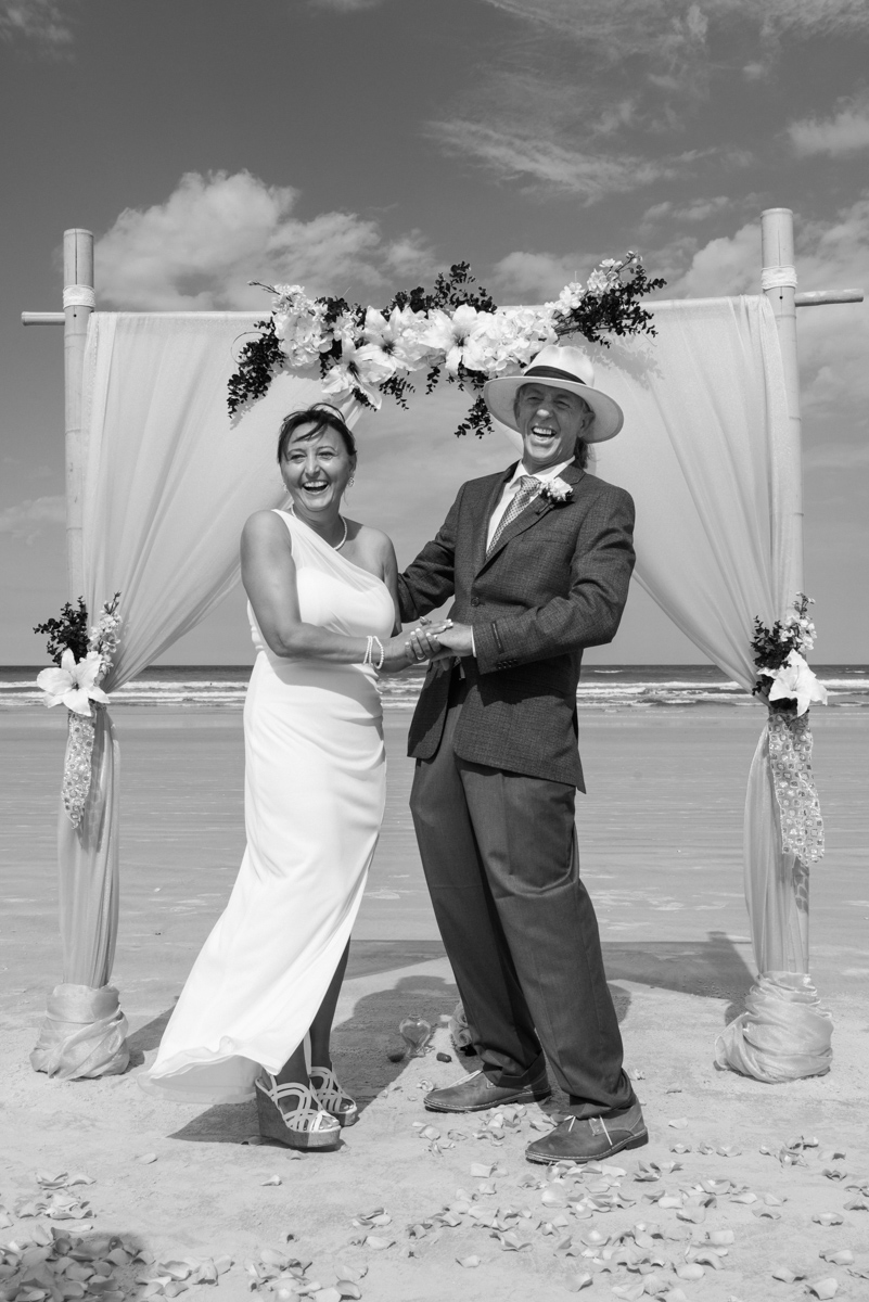 Just Married on St Augustine Beach