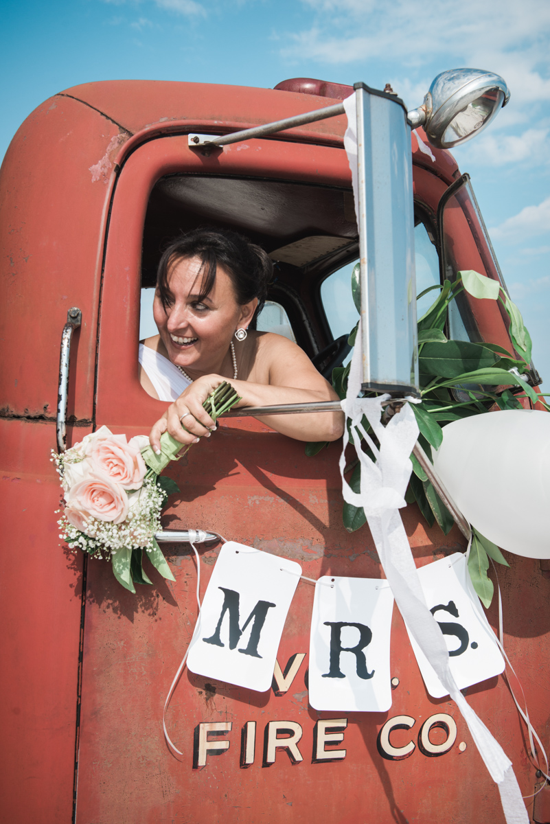 Nontraditional wedding portrait
