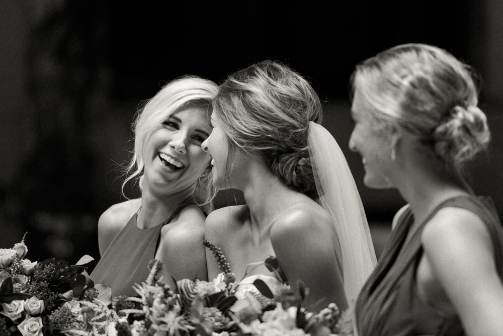 Brides maids laughing