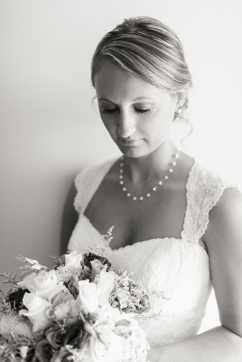 A bride awaits her big moment