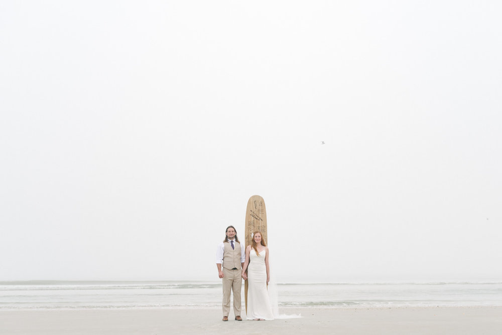 Surfers get married on St Augustine Beach