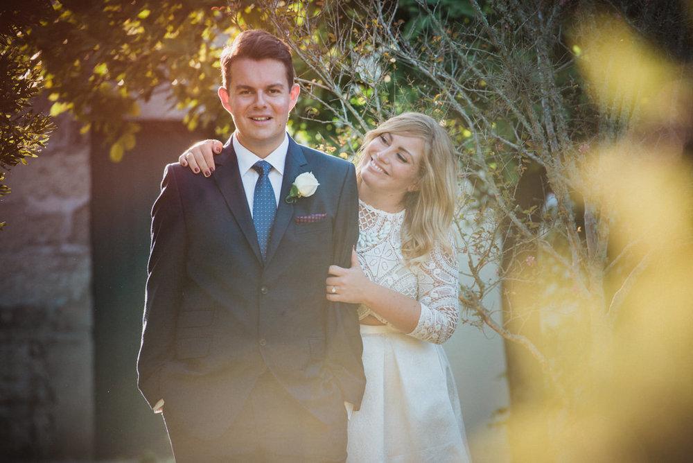 Wedding photo during sunset