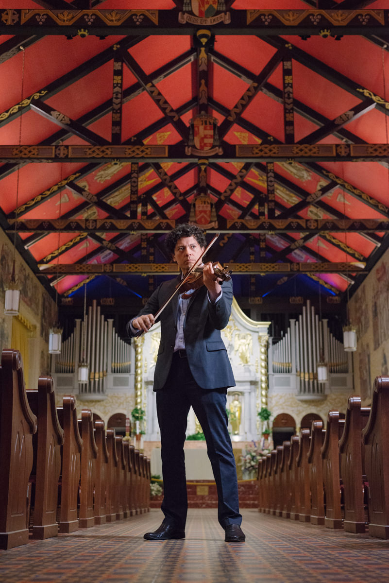 Violin play at the Cathedral Basilica