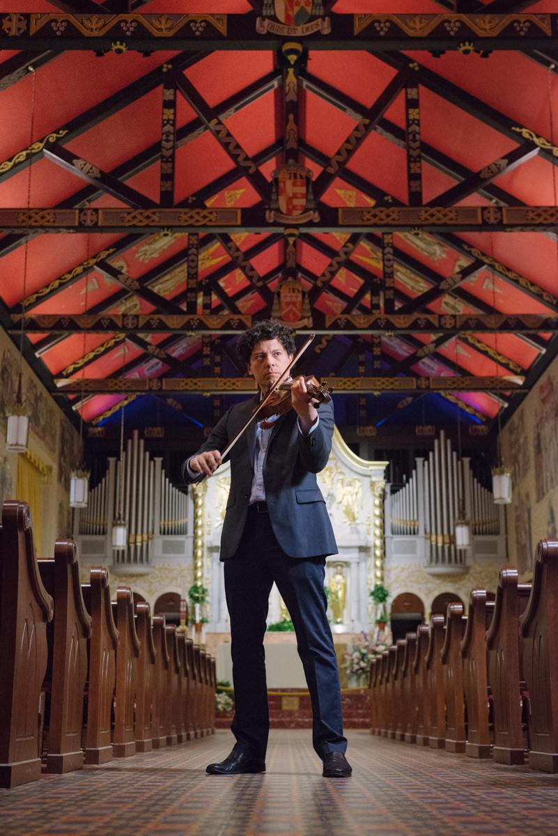 Violin play at the Cathedral Basilica