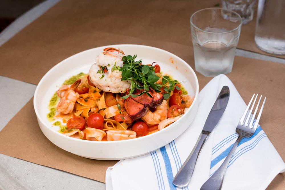 Lobster dish from Terra & Acqua
