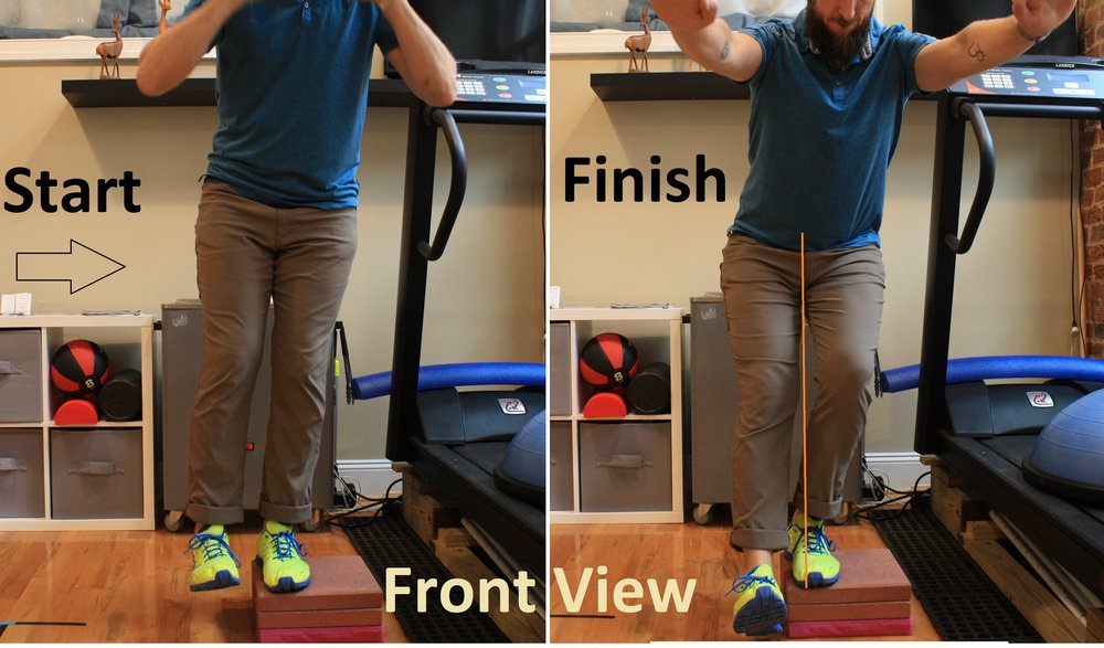 Lateral limb squats allow for a greater depth without ankle limitations. Lateral hip stabilizers are more engaged.