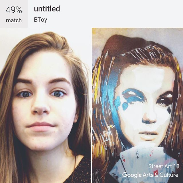 Looks more like Lana Del Rey combined with my sister than me  But found a new favorite street artist