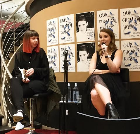 The lovely Shivaun Plozza, author of Frankie, hosted the Q&A