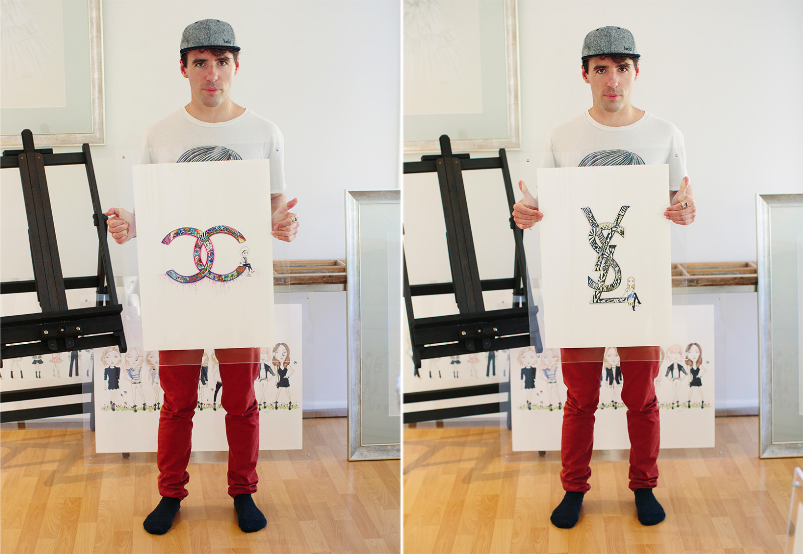 Aaron-Favaloro-Illustrator-YSL-Love-Note-Photo