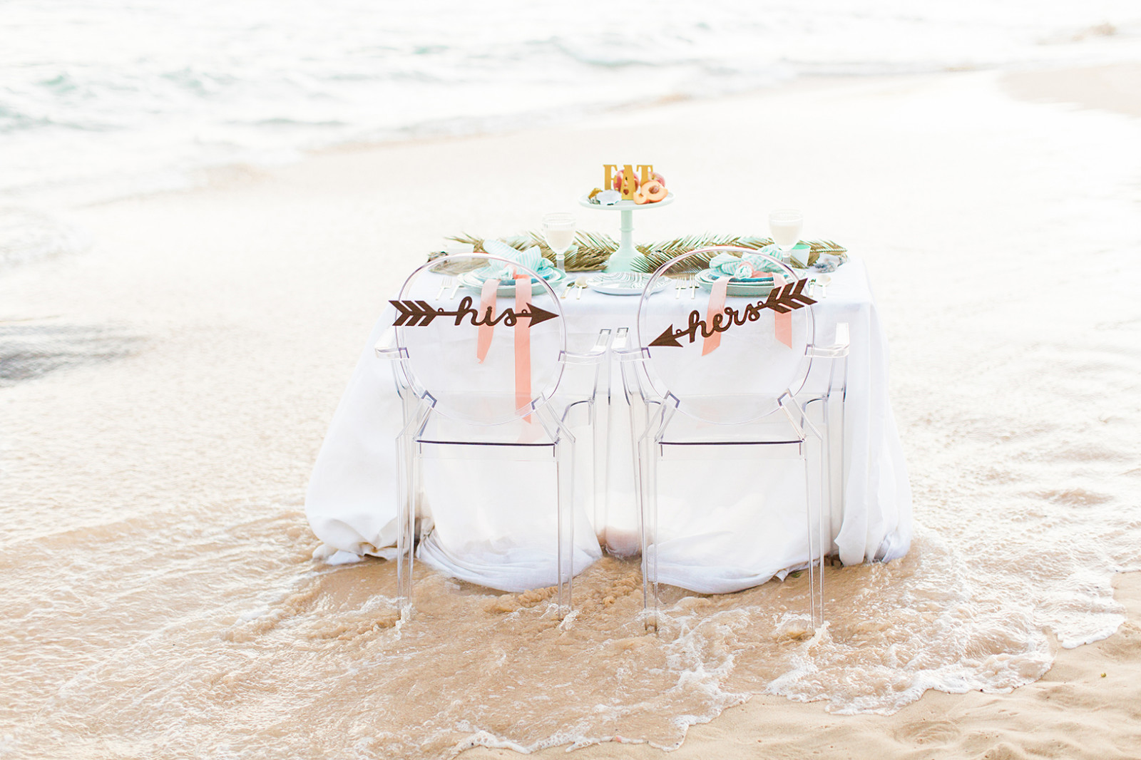 Seaside Wedding Love Note Photography