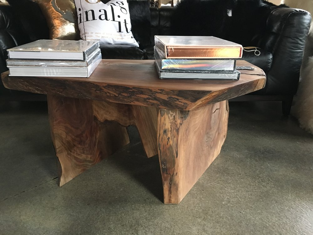 live edge black walnut coffee table — urban design, llc