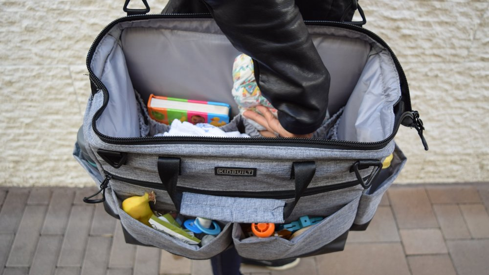 kinbuilt stay-open baby diaper bags