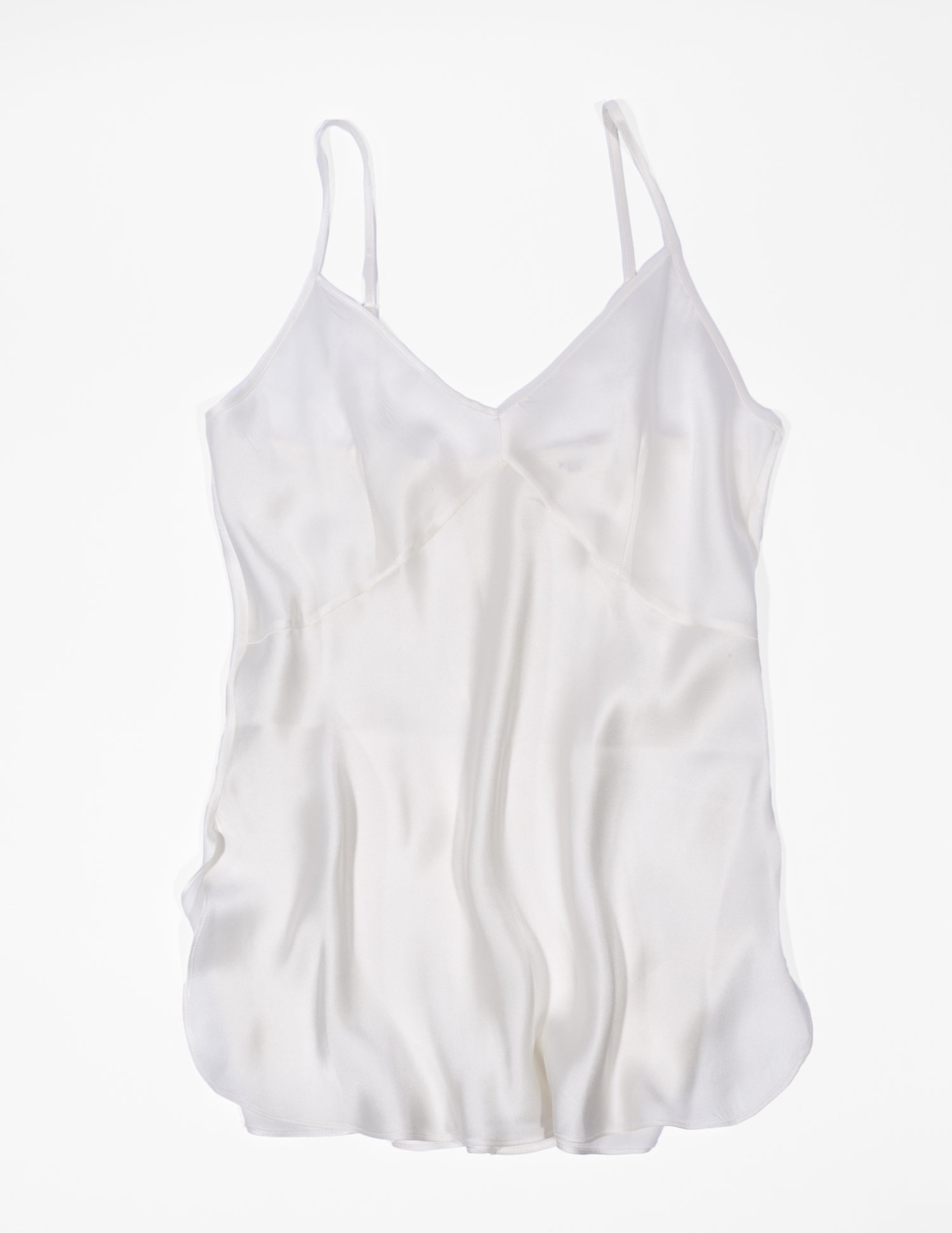 52ba7d1401ca4 KRUSH Organic Silk Camisole in Raw White — KENT