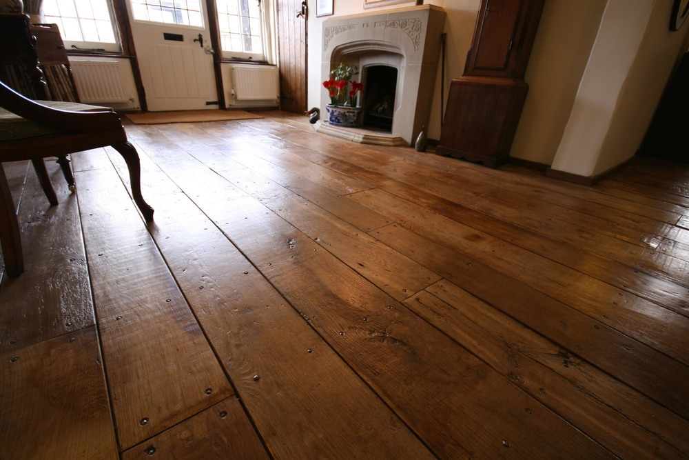 Reclaimed oak flooring in Sussex