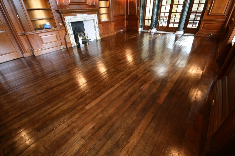A restored 18th century oak floor
