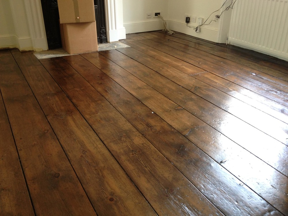 a restored georgian pine floor