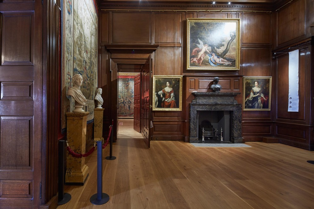 The Solid Oak Flooring In The Privy Chamber at Kensington Palace