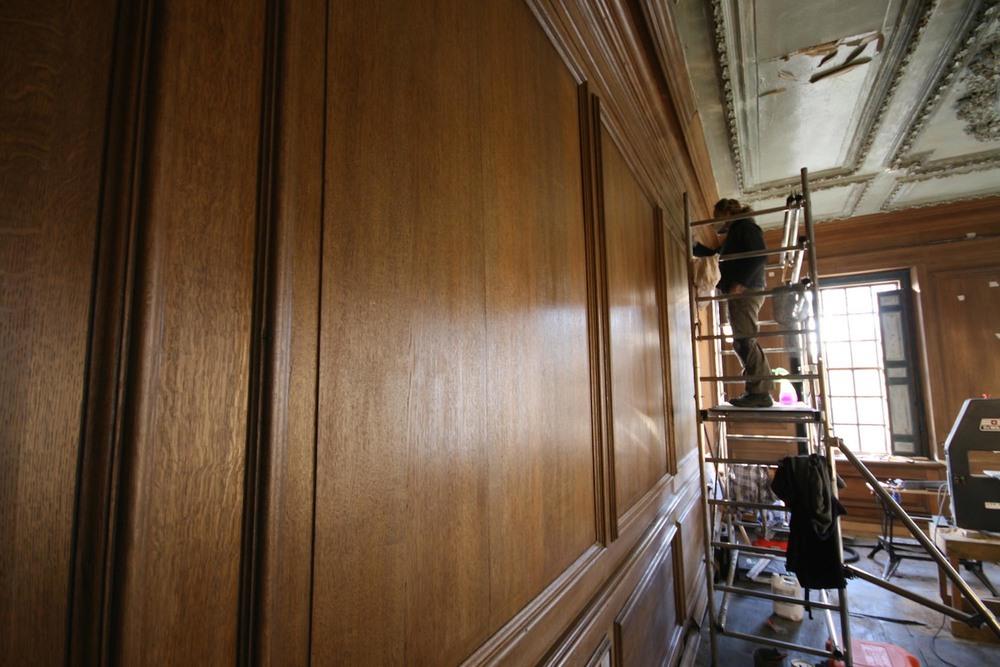 Restoring Oak Panelling