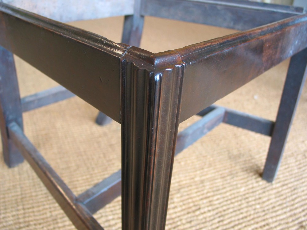 A mahogany dining chair after restoration