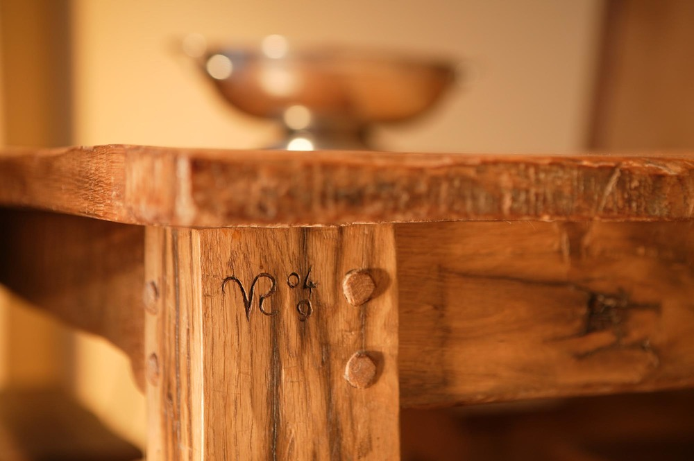 Reclaimed table handmade in kent by vincent reed