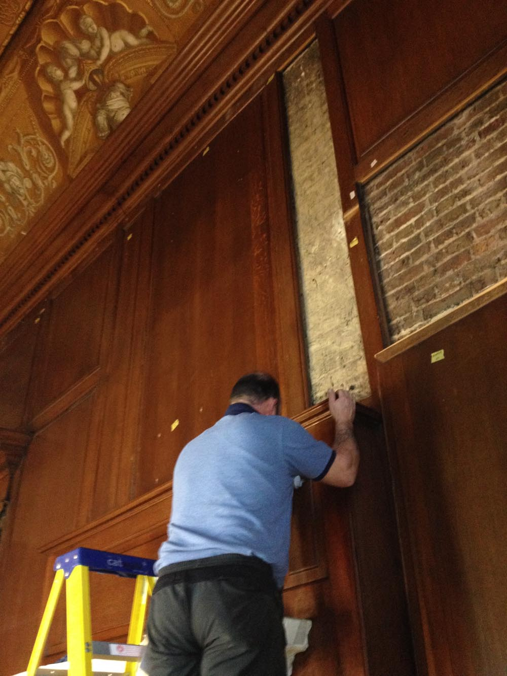 Restoring the oak panelling - Historic Royal Palaces London