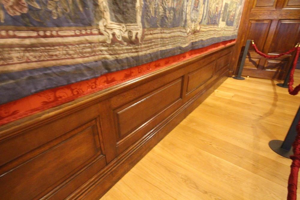 Restored oak panelling kensington palace london