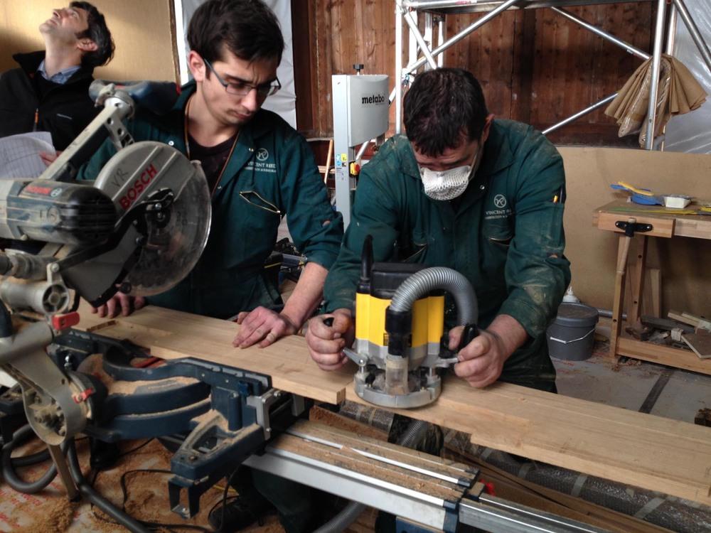machining oak floor boards