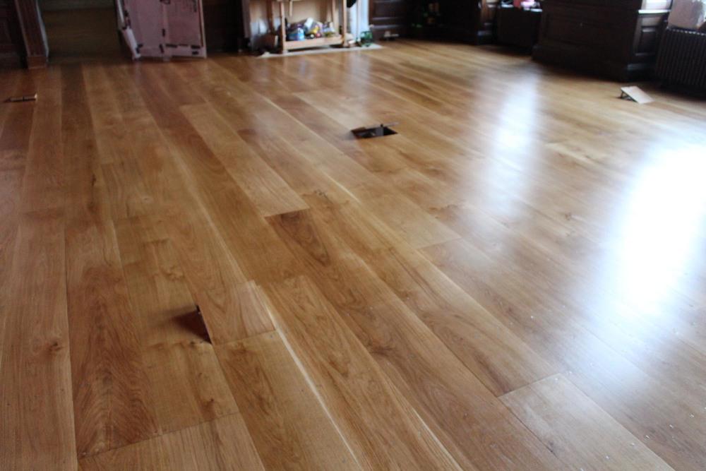 The completed soild oak floor at Kensington Palace London