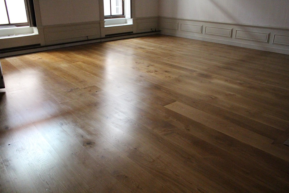The oak floor in the Privy Chamber completed by Vincent Reed