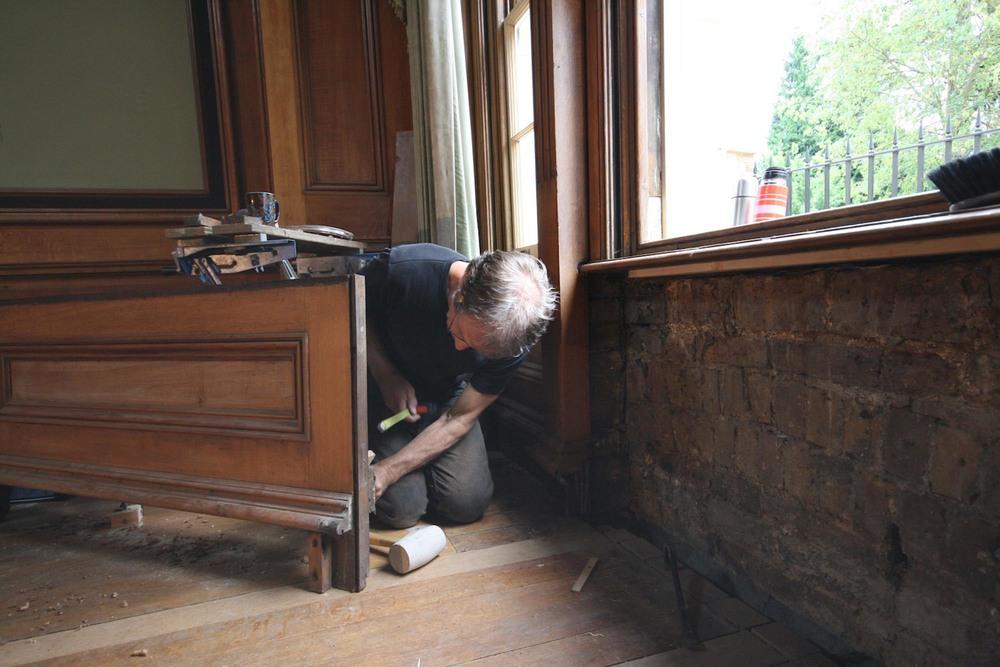 oak panelling removal for restoration