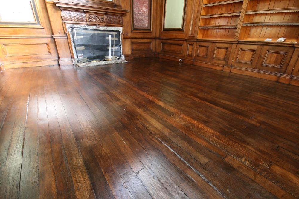 Restored oak floor once finished