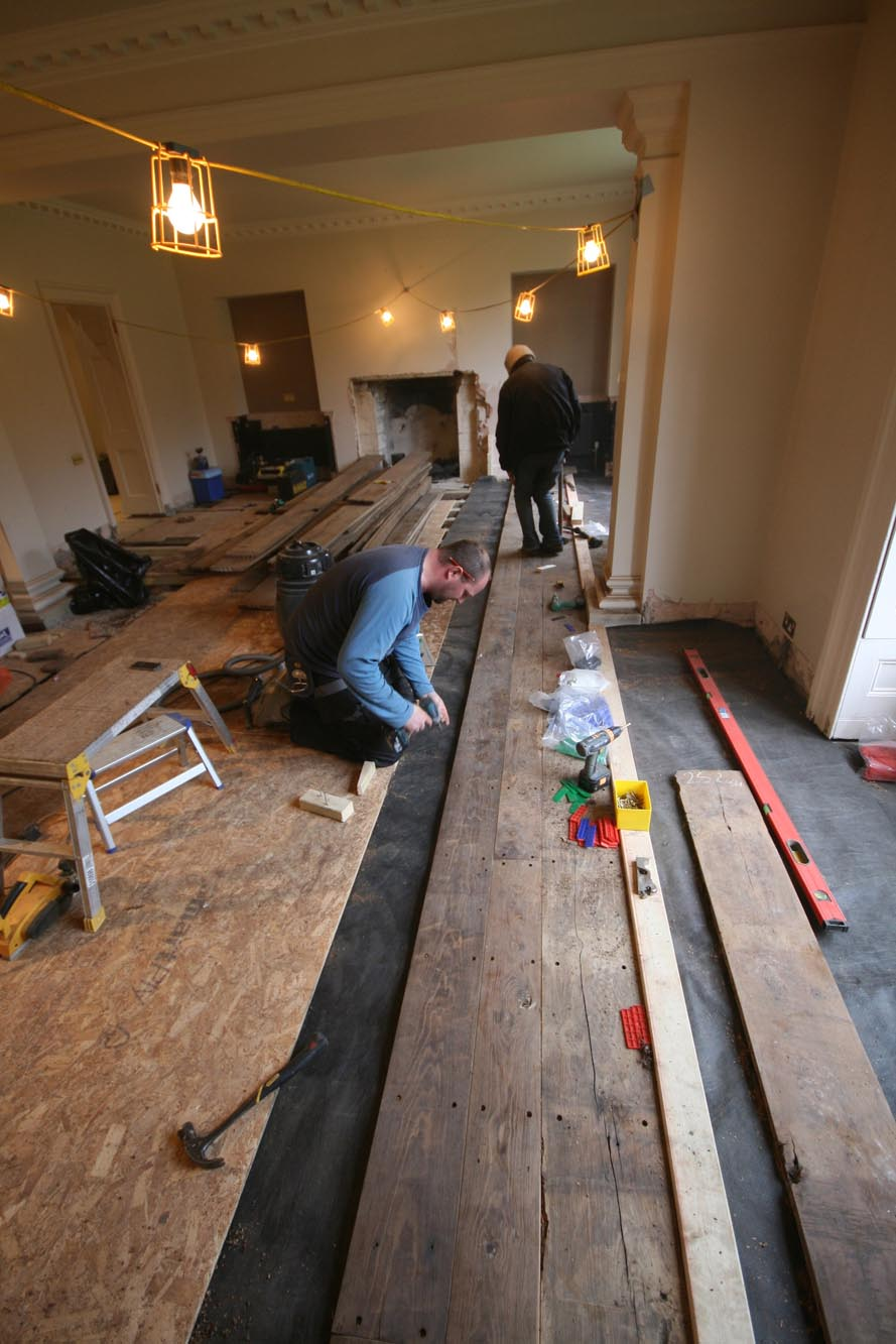 Our bespoke floor fitting service using our highly skilled team of craftsman
