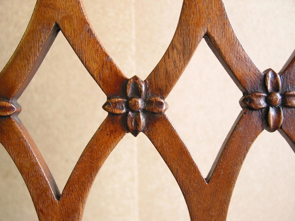A walnut dining chair back after restoration sussex