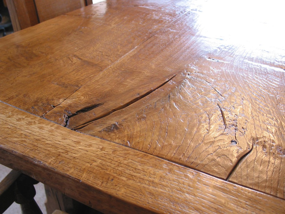 hand made oak refectory table using english oak made in kent