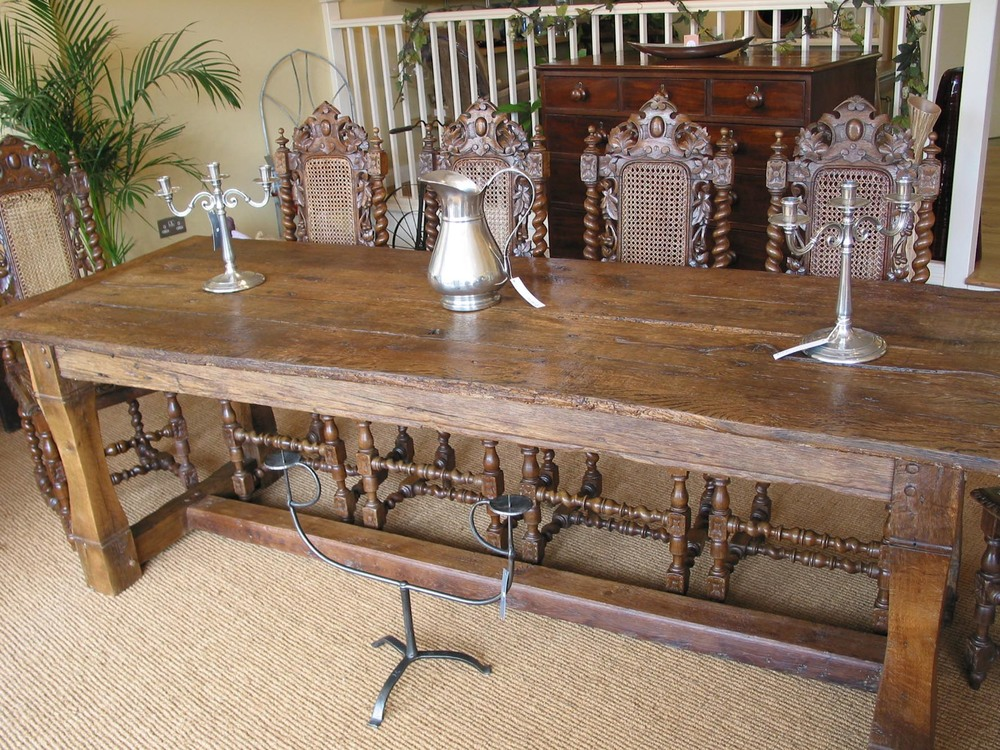 10 seater handmade oak refectory dining table handmade in sussex