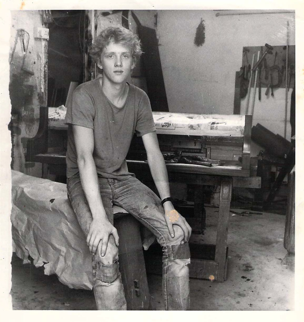 Vincent as an Apprentice in 1986 age 16